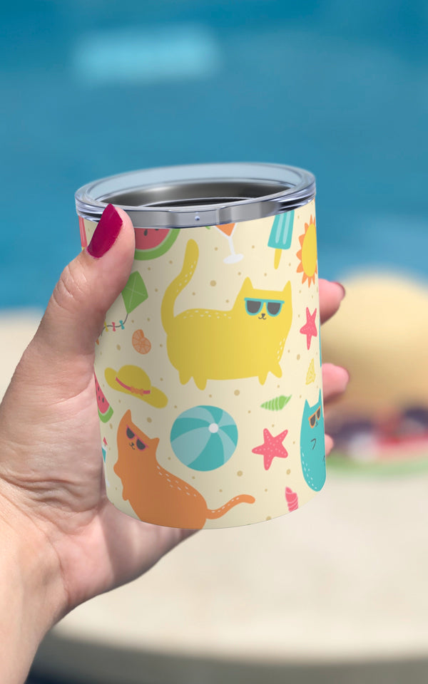 Beach Cats 10oz Tumbler