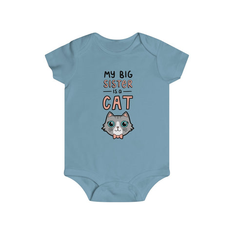 Big Sister Cat Baby Onesie