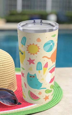 Beach Cats Stainless Steel 20oz Tumbler