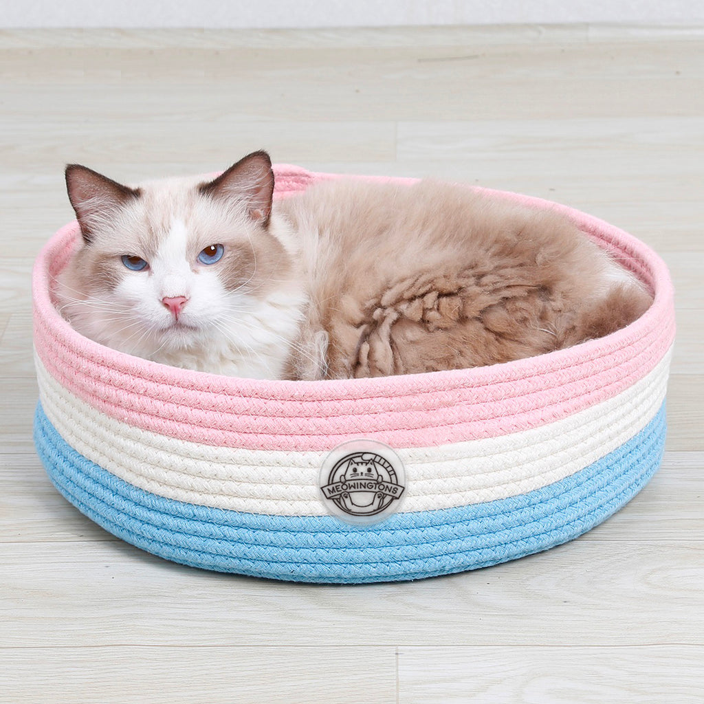 Woven Cat Bed Basket