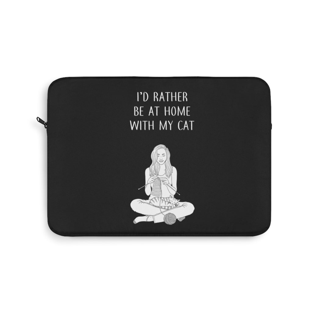 I'd Rather Be At Home Laptop Sleeve