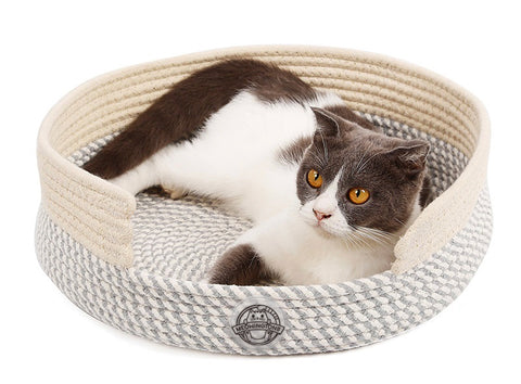 Woven Nest Cat Bed