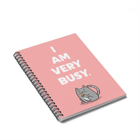 Very Busy Cat Notebook
