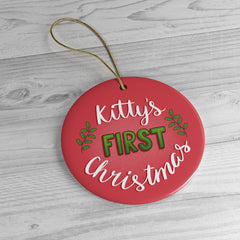 Kitty's First Christmas Ornament