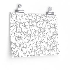 Crowded Cats Poster