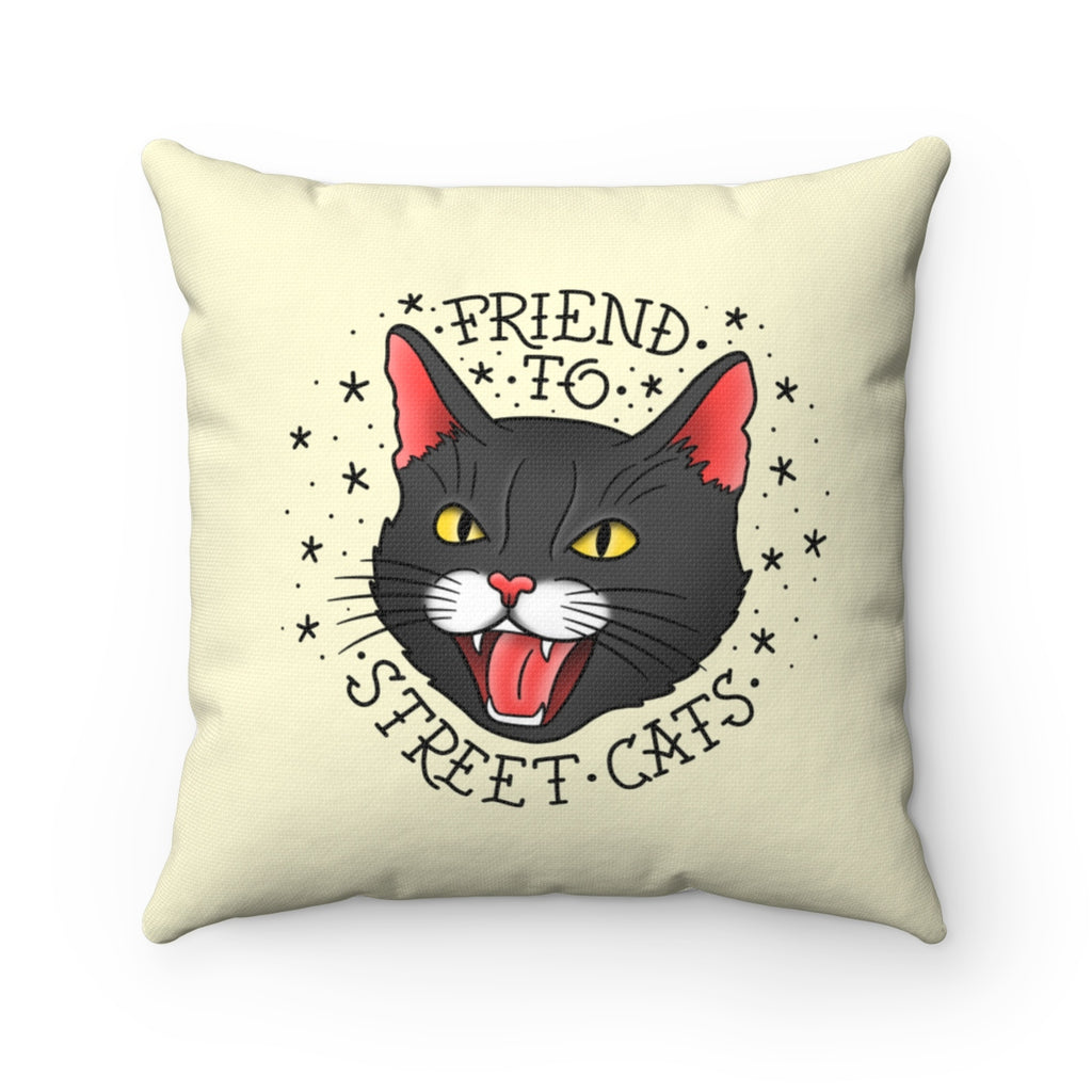 Street Cats Toss Pillow