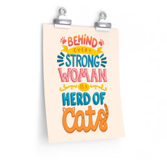 Strong Woman Cat Poster