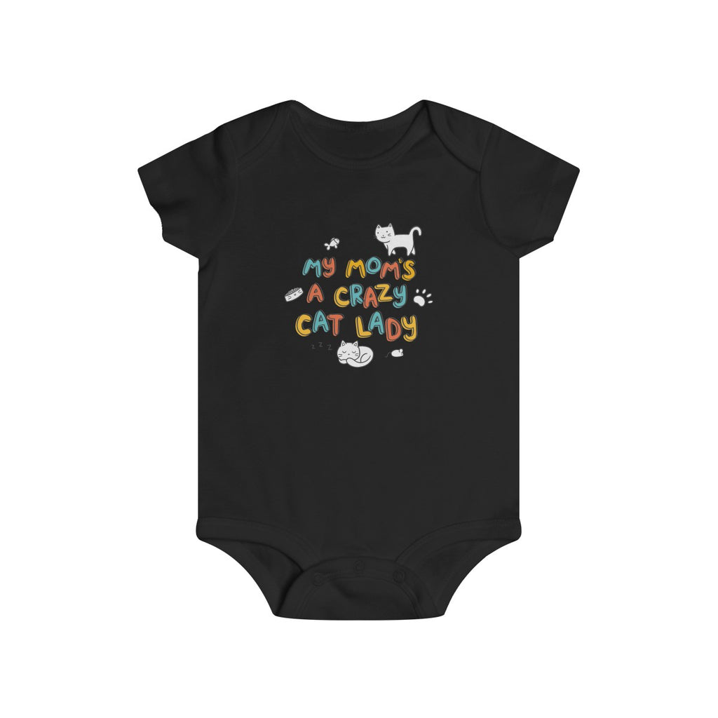 Novelty baby grow Ideal for cat lovers Cat mum Crazy cat baby