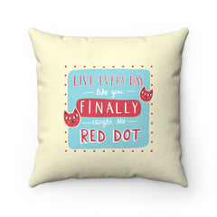 Red Dot Toss Pillow