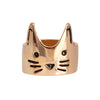 Gold Crown Cat Ring