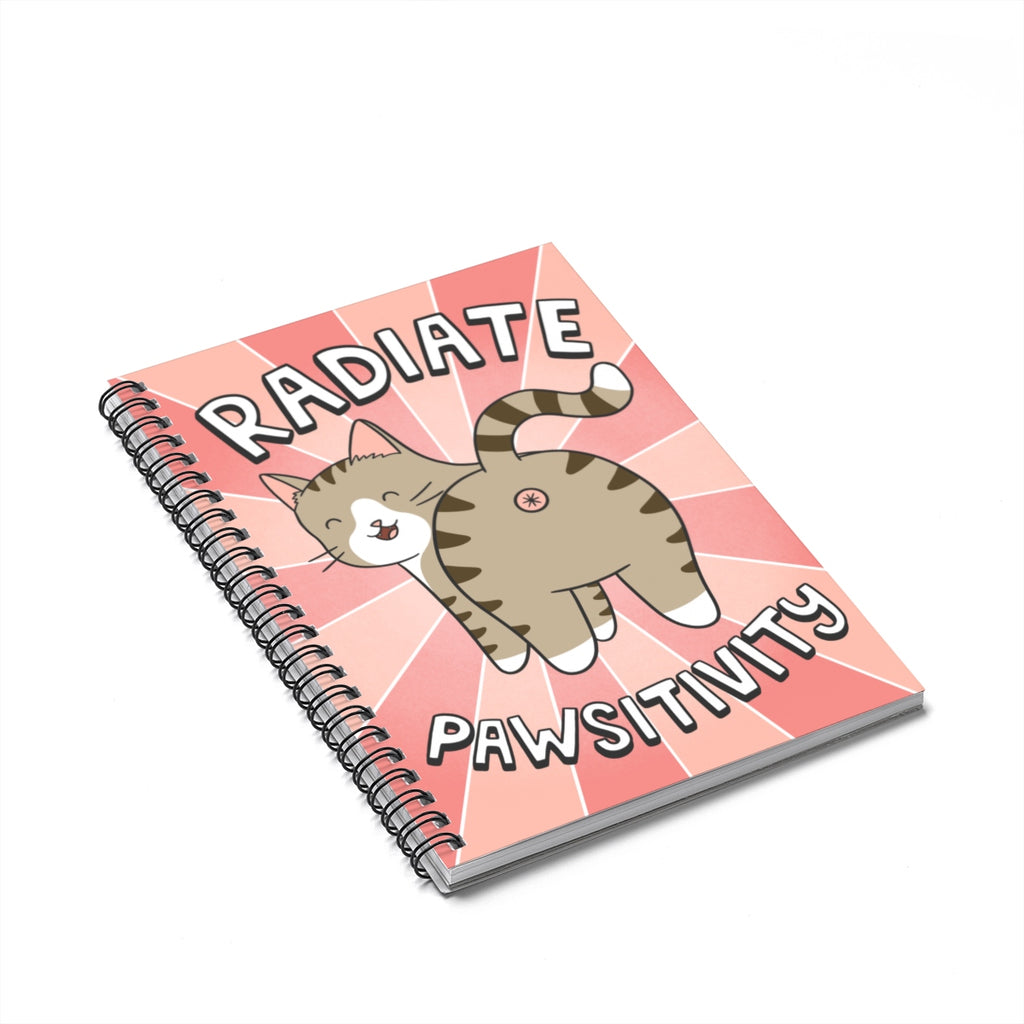 Radiate Pawsitivity Cat Notebook