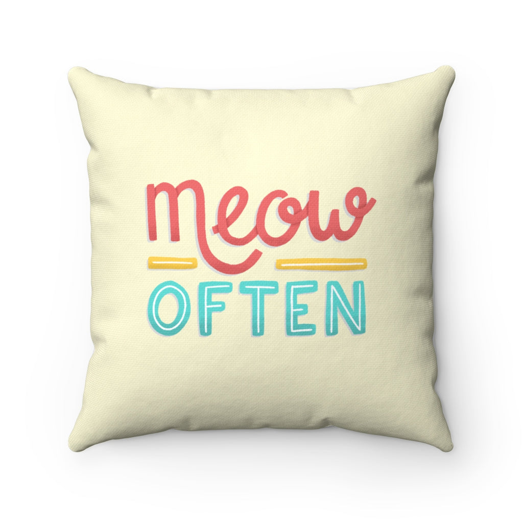 Meow Often Toss Pillow
