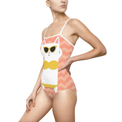 Sunbathing Cat One-piece Swimsuit