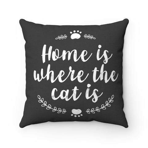 Where The Cat Is Toss Pillow