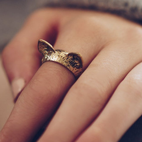 Vintage Bengal Cat Ears Ring