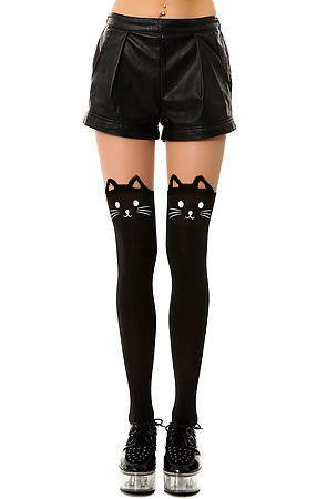 3de4eeeaa8881 Black Knee High Catyhose – Meowingtons