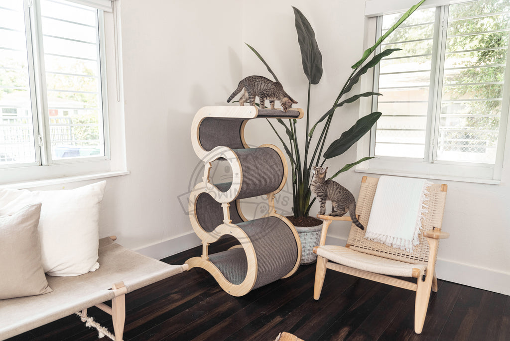 The Best Cat Scratching Post Modern Scratching Wave Meowingtons
