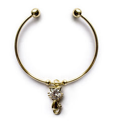 Diamond Cat Charm Bracelet