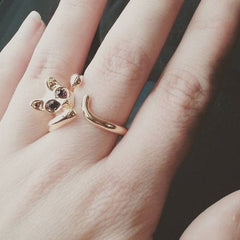 Adjustable Gold Sphynx Cat Ring from Meowingtons