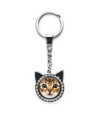 Photo Frame Cat Keychain