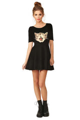 Little Black Cat Dress