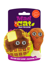 Chicken N' Waffles Catnip Toy