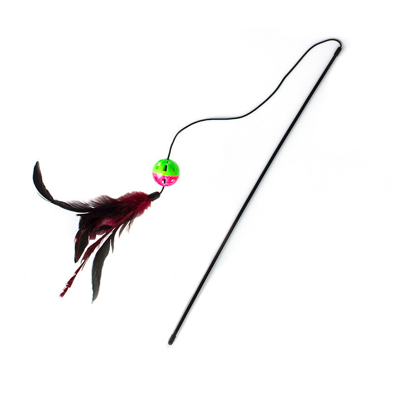 Feather Ball Cat Wand