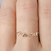 Delicate Gold Meow Cat Ring by Meowingtons