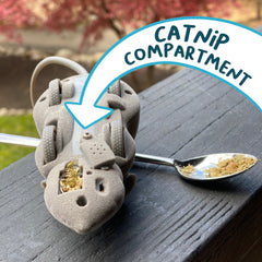 Mouse Hunt Cat Toy with catnip compartment