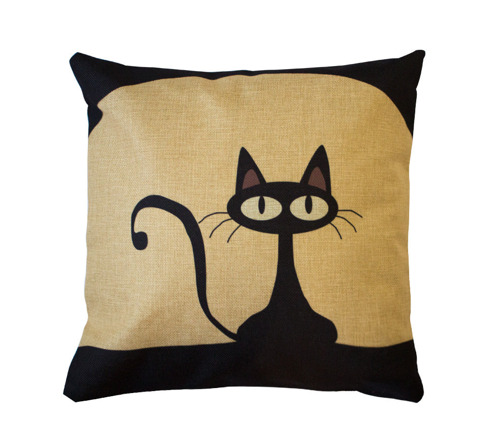 The canvas Mr. Kitster Toss Pillow Case