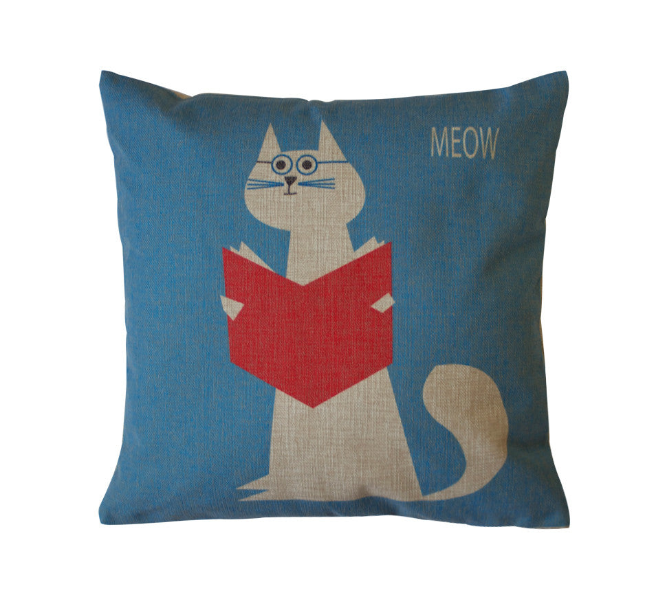 Nerd Meow Toss Pillow