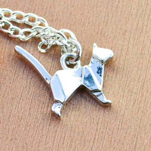 Origami Cat Necklace by Meowingtons