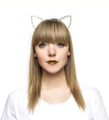 Pearl Cat Ears Headband