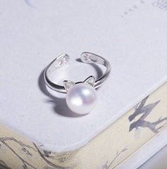 Pearl Paws and Ears Cat Ring