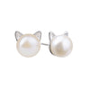 Pearl Cat Earrings