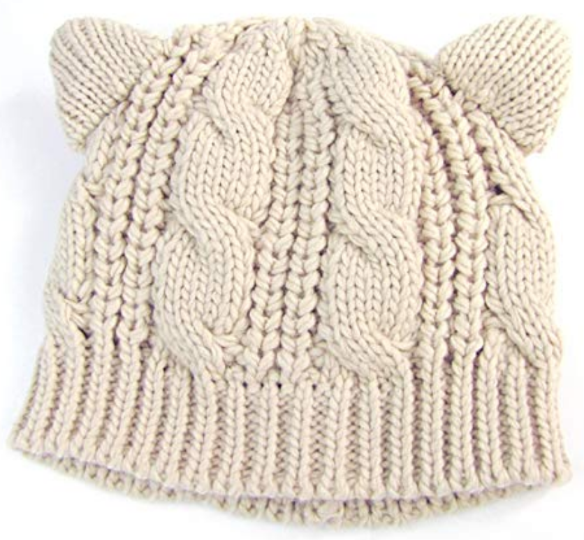 Knitted Cat Ears Hat