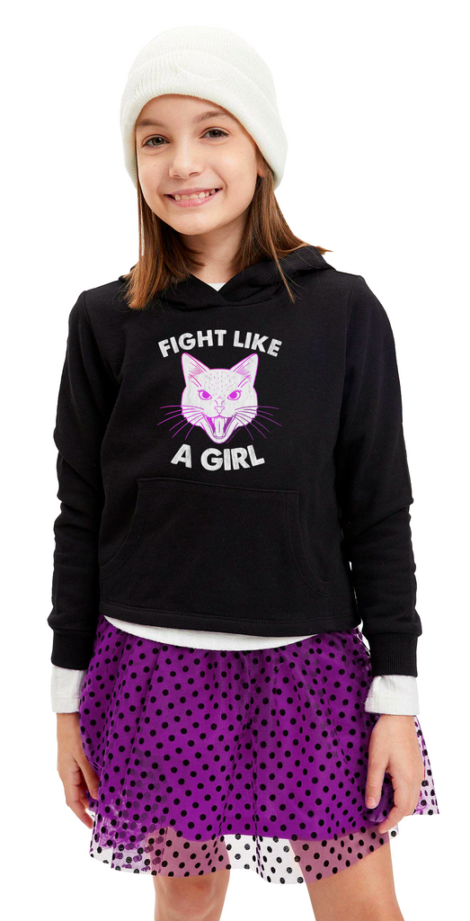 Fight Like a Girl Youth Cat Hoodie