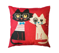 Sophisticated Cats Toss Pillow Cover