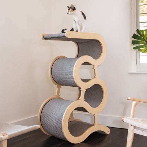 Modern Wave Scratching Post