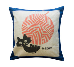 Yarn Kitty Toss Pillow