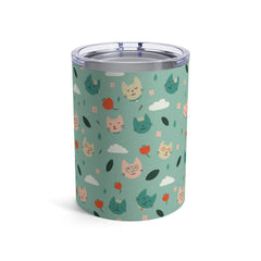 Drink More Water, Pet More Cats 10 oz Tumbler