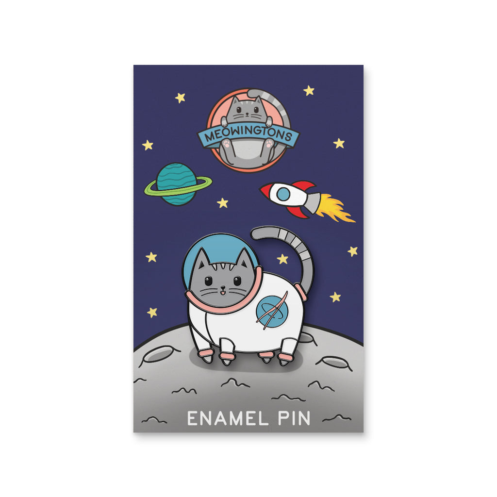 Catstronaut Space Milton The Cat Pin