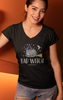 Bad Witch V-Neck Cat T-Shirt