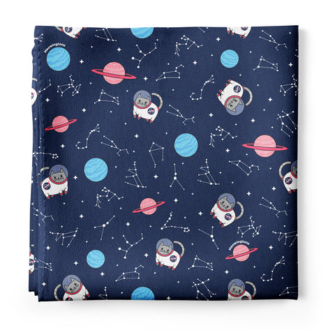 Space Cats Silk Bandana Scarf Featuring Milton