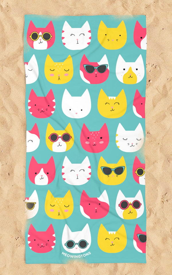 Cool Cats Beach Towel