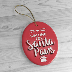 Santa Paws Cat Ornament