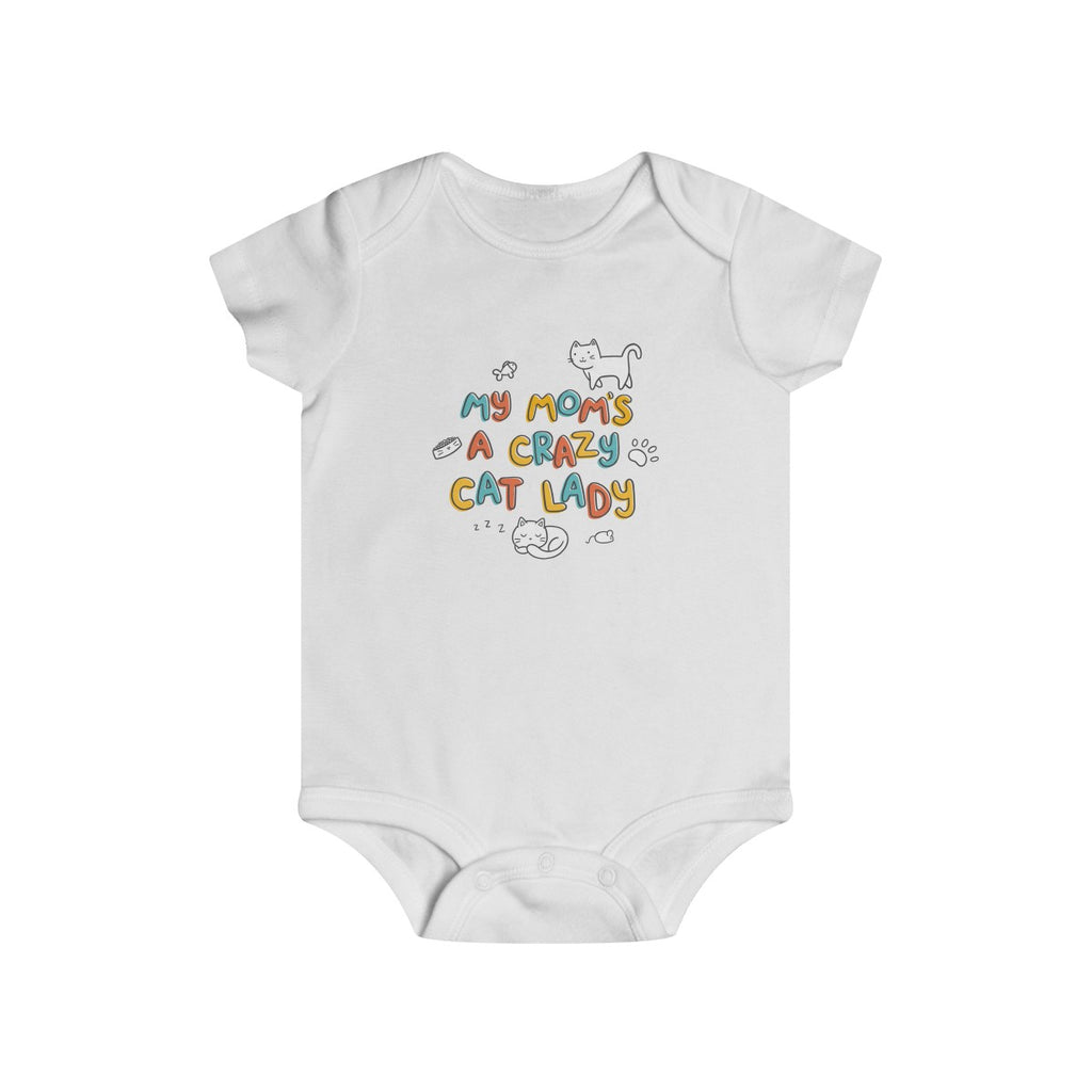 Crazy Cat Mom Baby Onesie