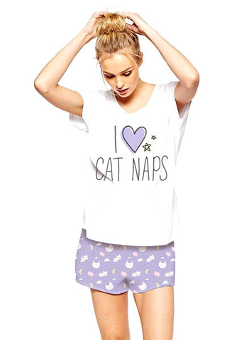 I Love Cat Naps Pajama Set