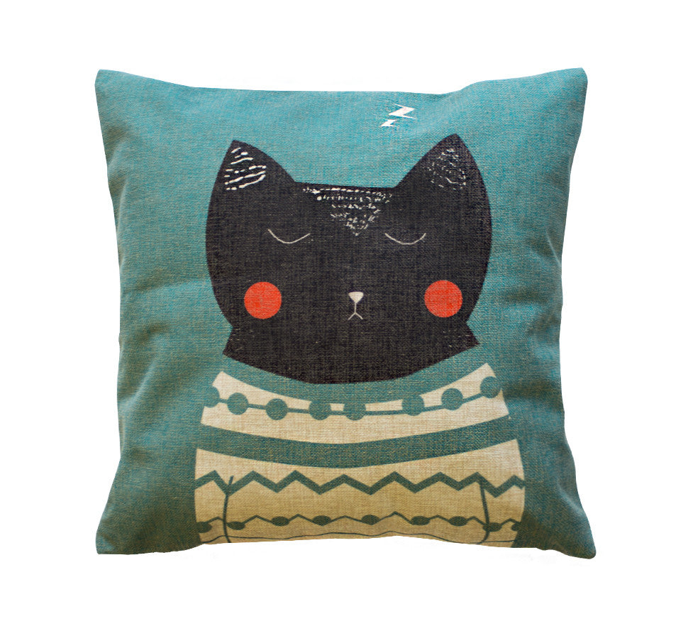 Cat Nap Toss Pillow