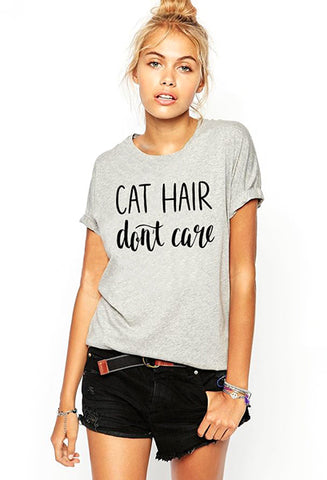 Cat Hair Don't Care Tee